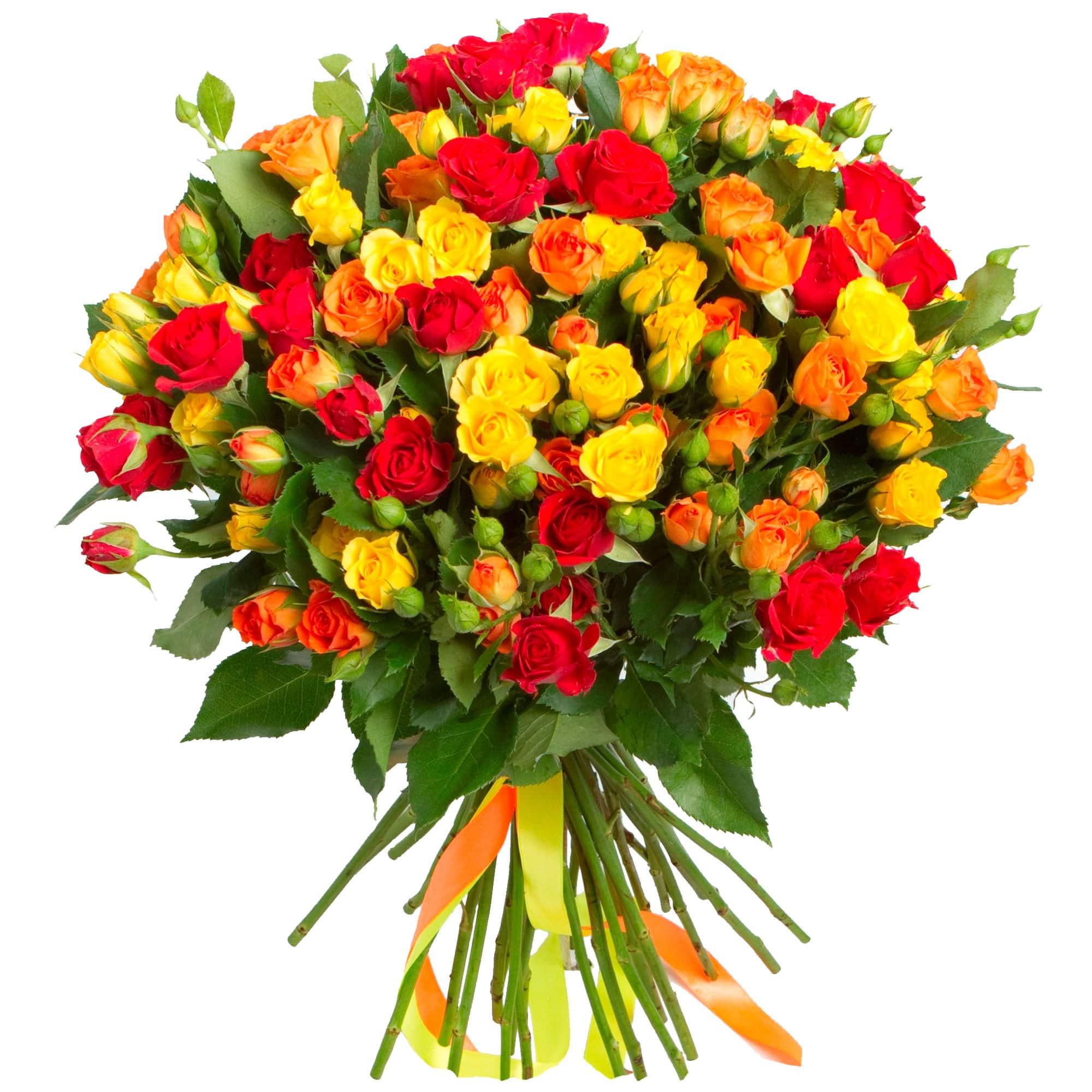 Букет, из кустовых роз красных букет